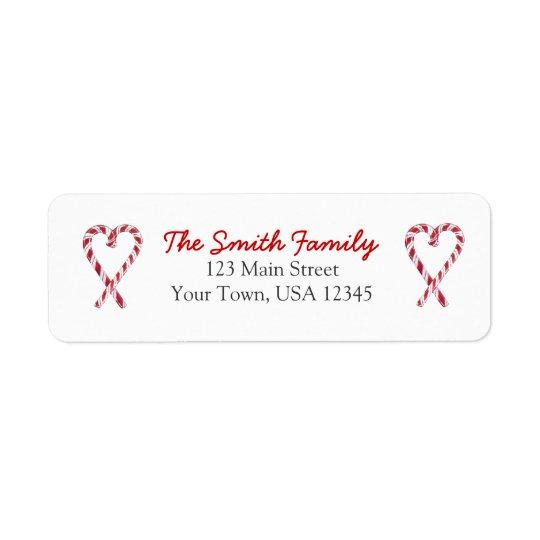 Candy Cane Love Return Address Sticker Return Address Label
