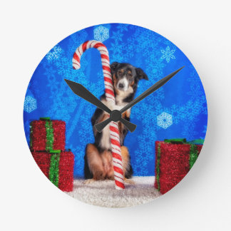Candy Cane lover Round Clock