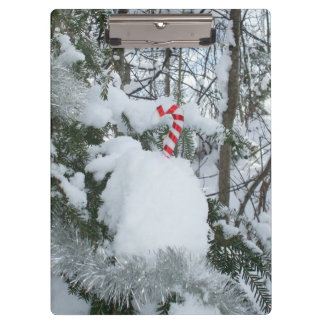 Candy Cane Outdoor Decoration Clipboard