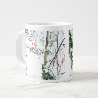 Candy Cane Outdoor Seasonal Decoration Large Coffee Mug