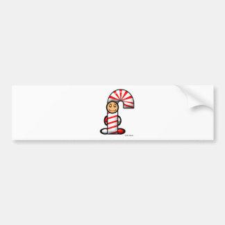 Candy Cane (plain) Bumper Sticker