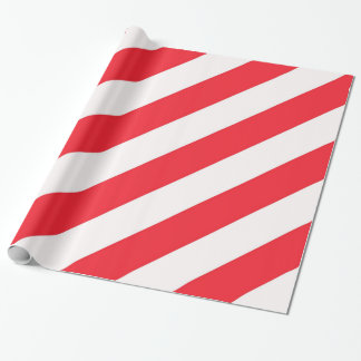 Candy Cane Red and White Diagonal Stripes