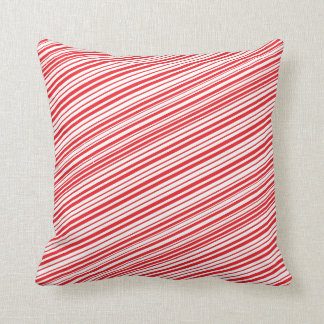 Candy Cane Red and White Stripes Cushion