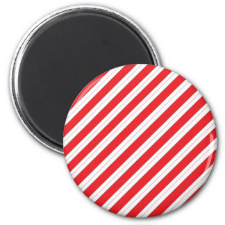 Candy Cane Red Stripes 6 Cm Round Magnet