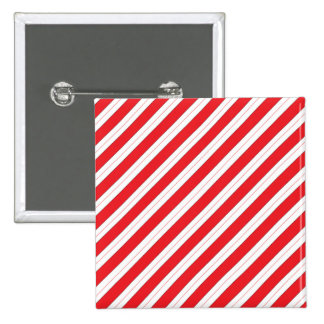 Candy Cane Red Stripes Button