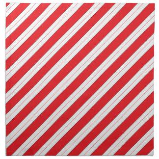 Candy Cane Red Stripes Cloth Napkins