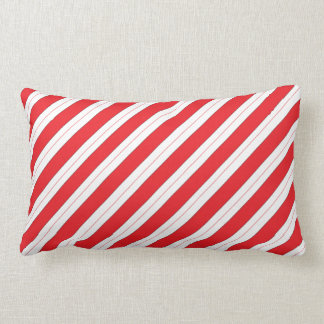 Candy Cane Red Stripes Cushion