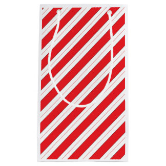 Candy Cane Red Stripes Small Gift Bag