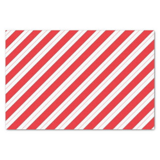 """Candy Cane Red Stripes 10"""" X 15"""" Tissue Paper"""