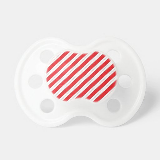 Candy Cane Red Stripes Baby Pacifiers