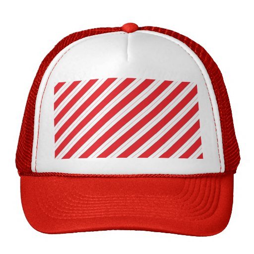 Candy Cane Red Stripes Trucker Hats