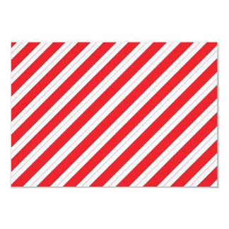 Candy Cane Red Stripes 9 Cm X 13 Cm Invitation Card