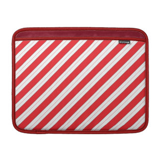 Candy Cane Red Stripes Sleeves For MacBook Air