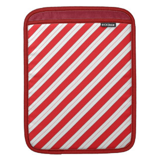 Candy Cane Red Stripes iPad Sleeves