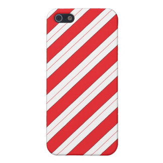 Candy Cane Red Stripes Cases For iPhone 5
