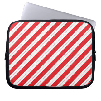 Candy Cane Red Stripes Laptop Sleeves