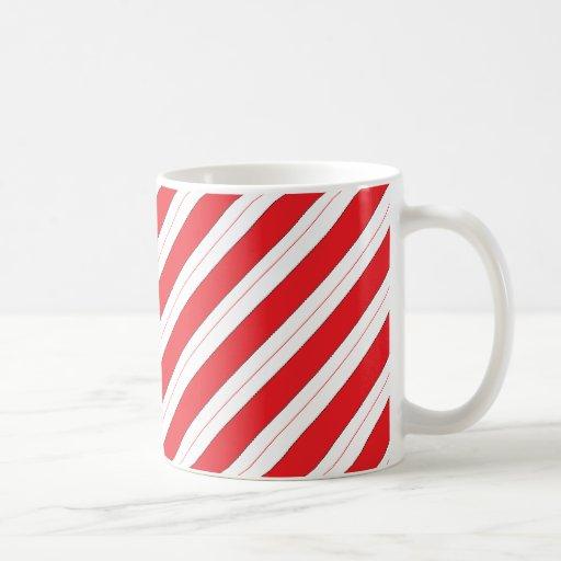 Candy Cane Red Stripes Mug