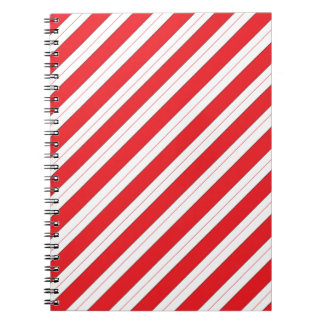 Candy Cane Red Stripes Note Books