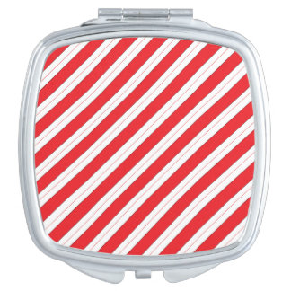 Candy Cane Red Stripes Mirrors For Makeup