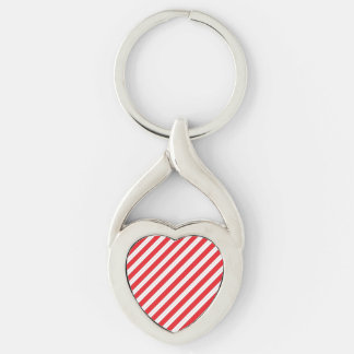 Candy Cane Red Stripes Key Chain