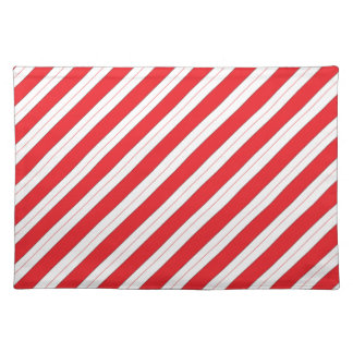 Candy Cane Red Stripes Place Mats
