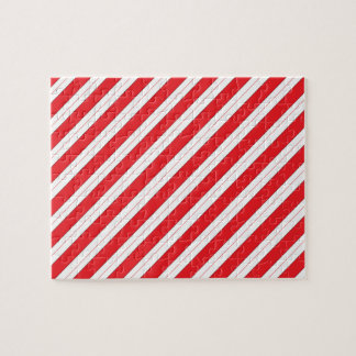 Candy Cane Red Stripes Jigsaw Puzzles