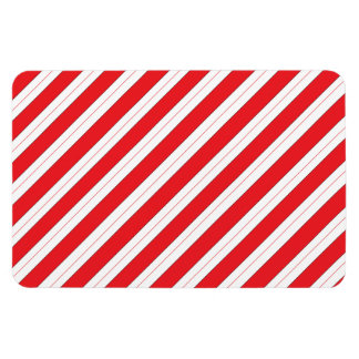 Candy Cane Red Stripes Rectangular Photo Magnet