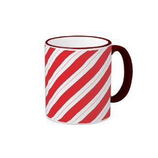 Candy Cane Red Stripes Ringer Mug