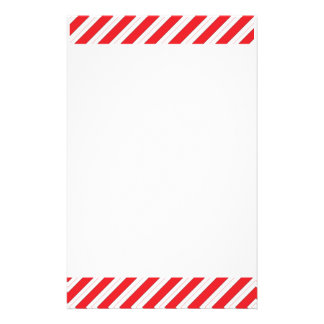 Candy Cane Red Stripes Personalized Stationery