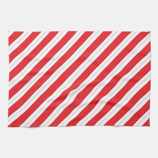 Candy Cane Red Stripes Towels