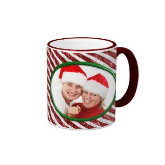 Candy Cane Ringer Mug
