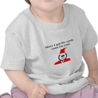 Candy Cane Santa Tee Shirts