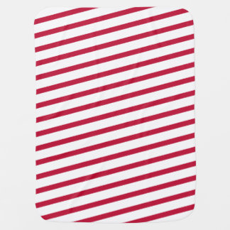 candy cane stripe baby blanket