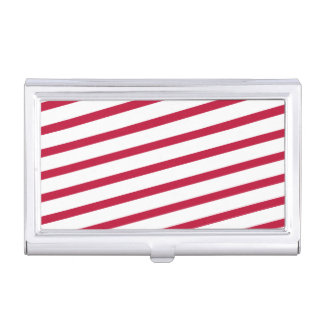 candy cane stripe business card holders