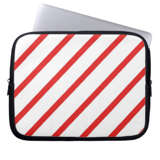 Candy Cane Stripe Laptop Computer Sleeve