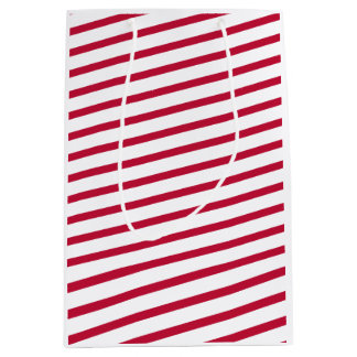 candy cane stripe medium gift bag