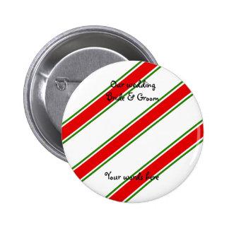 Candy cane stripe pattern pin