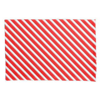 Candy cane stripe pillowcase