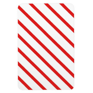Candy Cane Stripe Rectangular Photo Magnet