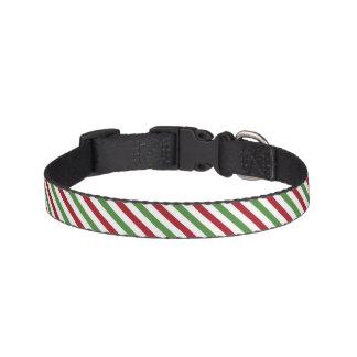 Candy Cane Striped Christmas Dog Collar