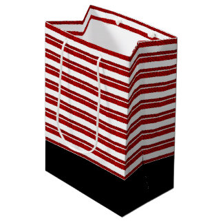 Candy Cane Striped Christmas Holiday Gift Bag