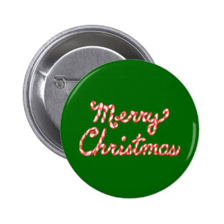 Candy Cane Striped Merry Christmas Pins