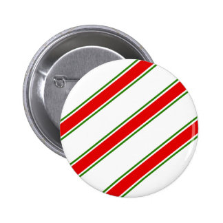 Candy cane striped pattern pinback buttons