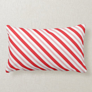 Candy Cane Striped Pattern Lumbar Cushion