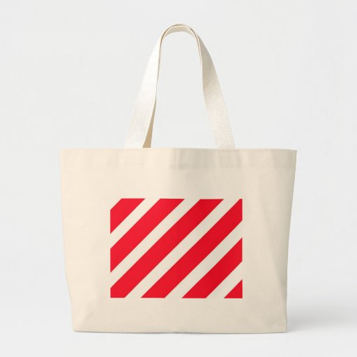 Candy Cane Stripes Canvas Bags