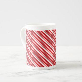 Candy Cane Stripes Bone China Mug