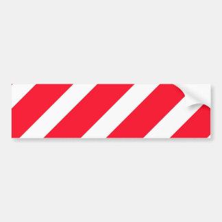 Candy Cane Stripes Bumper Sticker