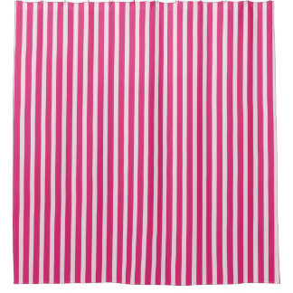 Candy-Cane-Stripes(c)Cherry-Red & White_Everyday_ Shower Curtain