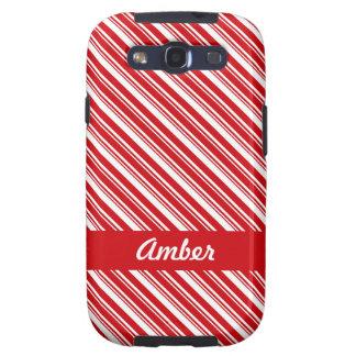 Candy Cane Stripes Samsung Galaxy SIII Case