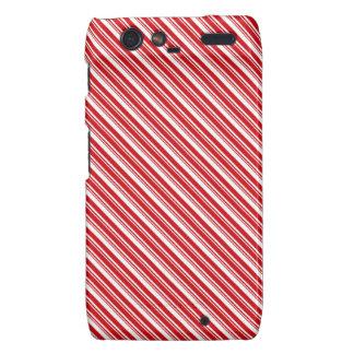 Candy Cane Stripes Droid RAZR Cases
